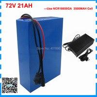 Высокое качество 2500 Вт 72 в 21AH скутер батарея 72 В литиевая батарея 72 в аккумулятор использовать Sanyo 3500 мАч ячейки 40A BMS