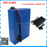 High quality 2500W 72V 21AH scooter battery 72V Lithium battery 72V Battery pack use Sanyo 3500mah cell 40A BMS