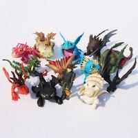 1Set 13pcs Set 5 7cm How To Train Your Dragon 2 Night Fury Toothless Dragon PVC