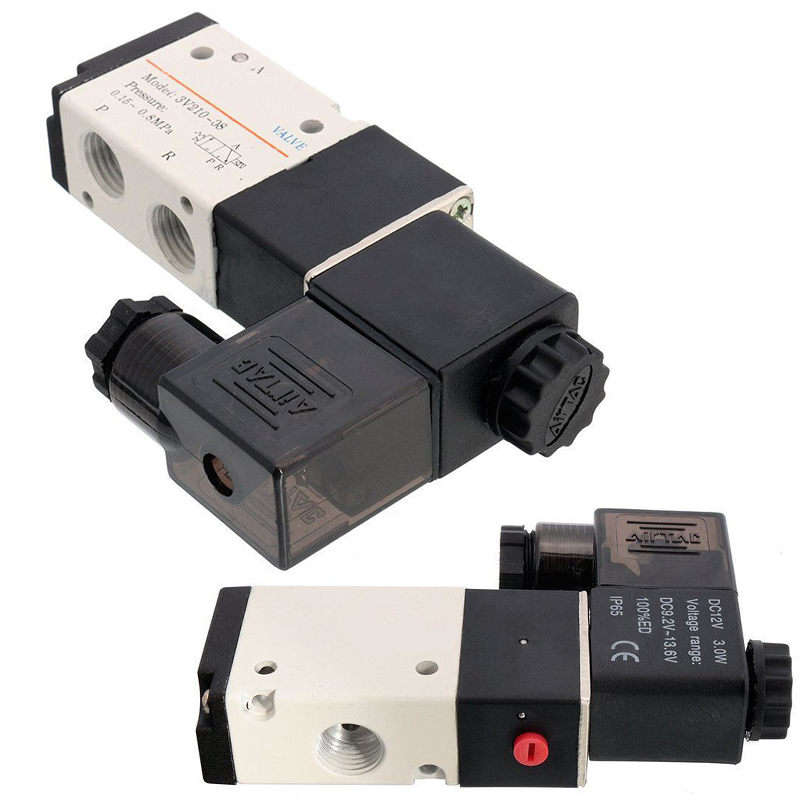 New 1 4 3 Way 2 Position Pneumatic Aluminum Solenoid