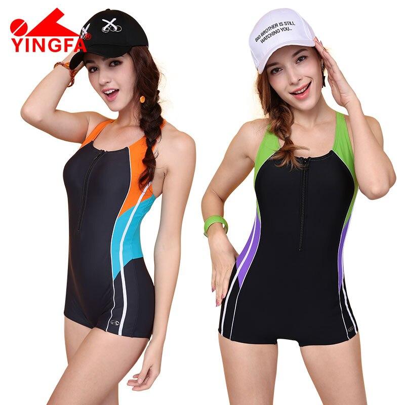 YingFa Fina professional Swimwear Women One Piece Swimsuit Sports Swimming Suits Boxer Shorts Backless Beachwear Bathing Suits nobrand соревновательная 20х30м рекомендовано fina для мужчин
