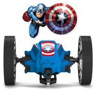 Captain America RC Car Remote Control Car Robot Bounce With LED Sound Rotation Jump Mini VehicleToys For Boys