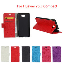 For ( Huawei Y6 2 Compact ) Case Wallet Style PU Leather Cartoon Case Cover For ( Huawei Y6 II Compact ) 5.0inch