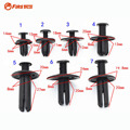 100 X Car Auto Plastic Push Type Rivet Retainer Fastener Bumper Fender Clips For Door Fenders CD DVD Cover Roof