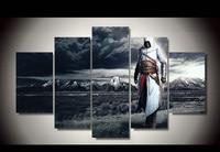 Bezramowe Obraz Olejny Cuadros Decoracion Fallout 2016 Promocja 5 Sztuk Assassins Creed Pokoju Dekoracji Druku Obraz Na Płótnie