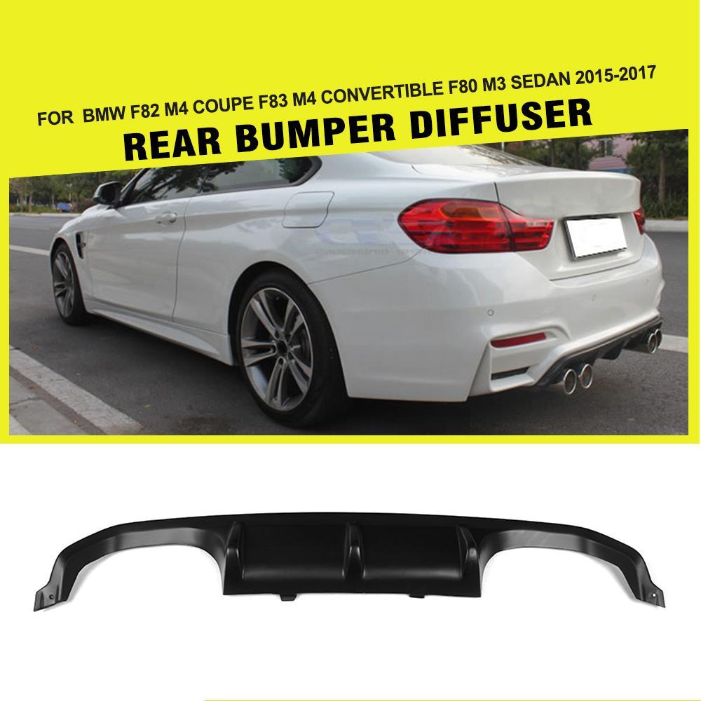 Frp car rear bumper lip diffuser for bmw f80 m3 f82 m4 2014 2017