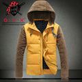 T china cheap wholesale 2016 autumn winter new men fashion casual thickening keep warm hooded cotton-padded jacket