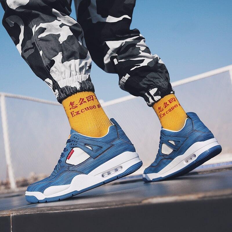 Up Hommes Mode Hiver En Chaudes Confortable Casual white Dentelle Homme Toile Mans Black Chaussures Air Pour Paniers Formateurs blue Sneakers Plein 51Znqw