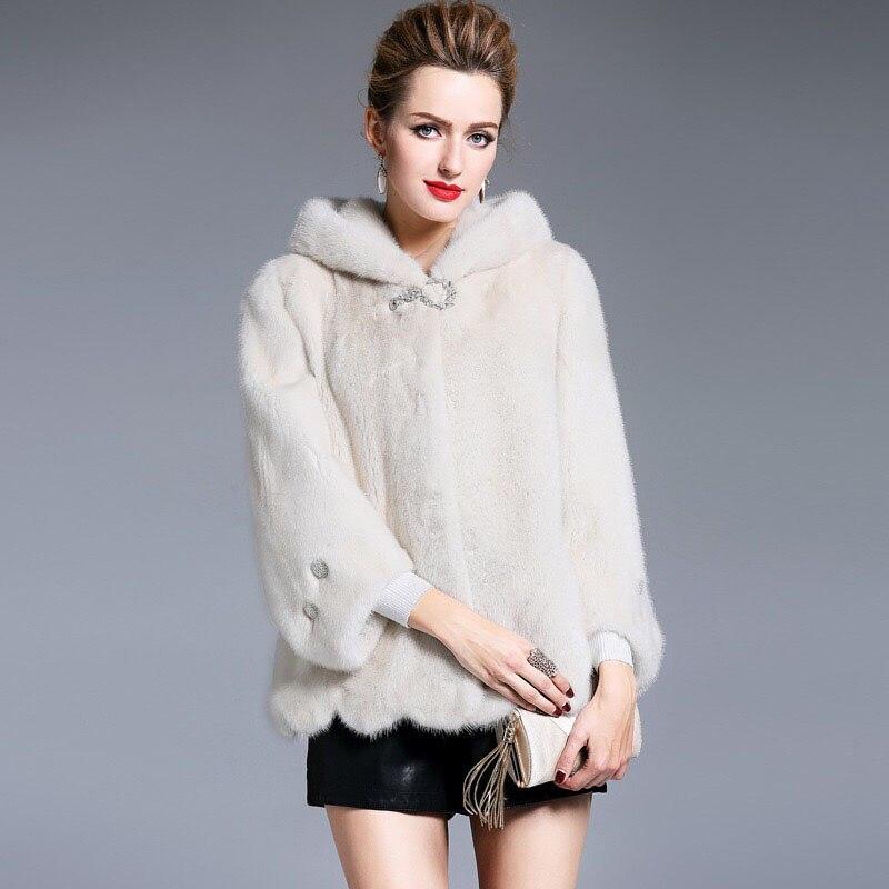 2017 Brand luxury women natural import mink fur jacket long style solid color elegant lady high quality winter fur coat MK-016