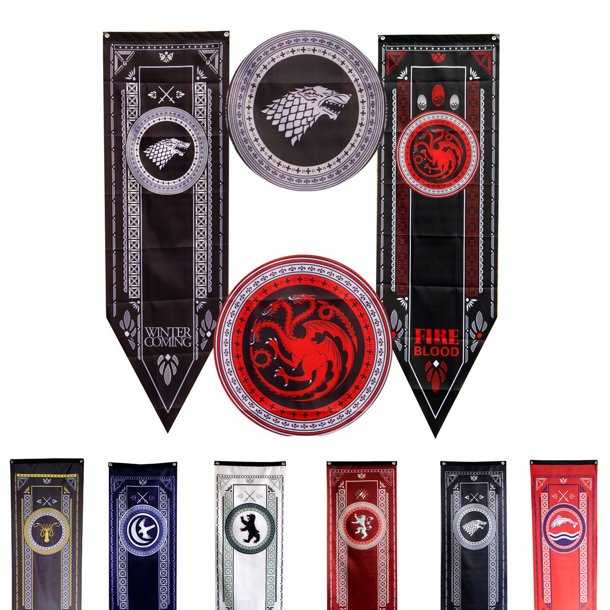 Game Of Thrones Banner Targaryen Stark Lannister Baratheon Bolton Nights Watch Flag new Home Decor room Party flags freeshipping-in Flags, Banners & Accessories from Home & Garden on Aliexpress.com | Alibaba Group
