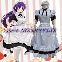 Miłość żywo tojo nozomi słodkie maid cosplay costume japoński anime dress maid uniform miłość żywo tojo nozomi cosplay costume