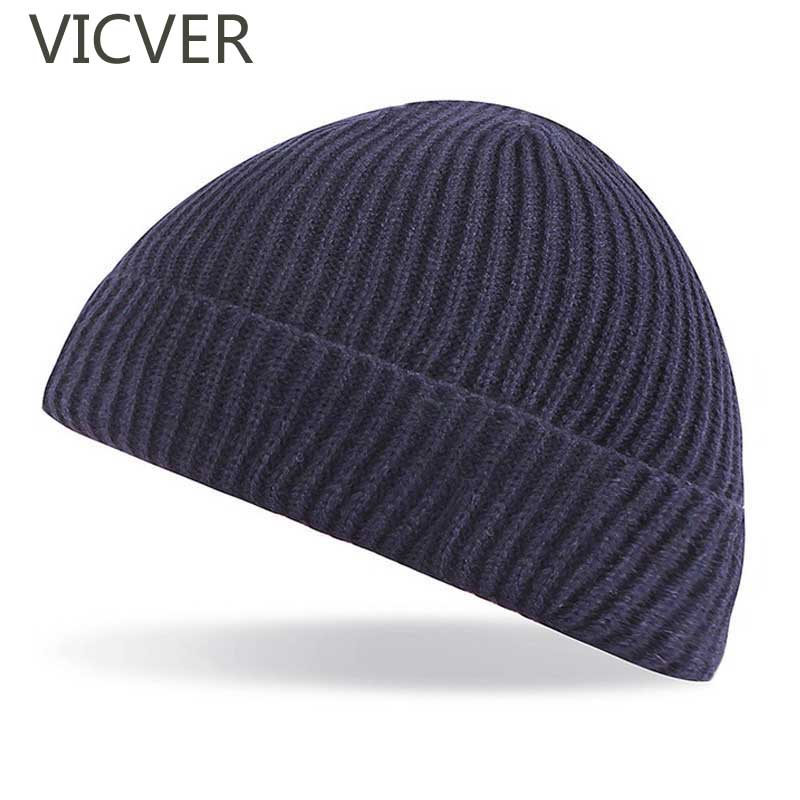 Men Fisherman   Beanie   Hat Woolen Caps For Women   Skullies     Beanies   Knitted Hats Winter Warm Caps Fashion Retro Autumn Crochet Hat