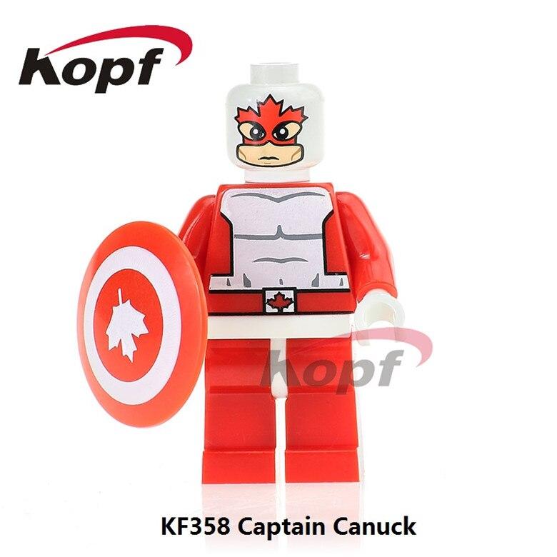 20Pcs Super Heroes Captain Canuck Guardian Alpha Flight Marvel Melter Dolls Building Blocks Christmas Toys for children KF358