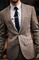 The Updated Tweed Notch LAPEL SUIT Two Button Ball Form Suits Man Wedding Dress And Fashion