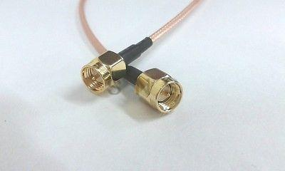 ФОТО 10PCS SMA male plug to SMA male plug straight crimp  RG316 cable 50CM