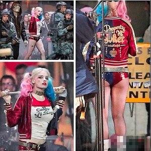 Image 5 - Costume de Cosplay Harley Quinn pour femme, déguisement Suicide Squad, veste de film Halloween Top animé, Batman Arkham Asylum City, Joker