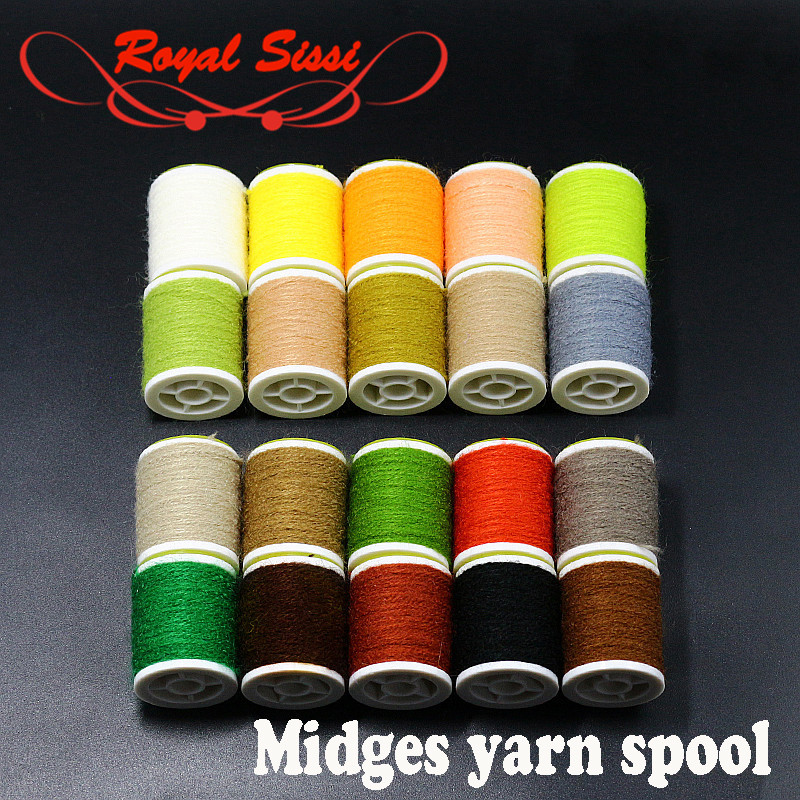 5 spools set fly tying micro fuzzy yarn midges nymph yarn for small dry fly bodies tying materials micro diameter fly tying yarn