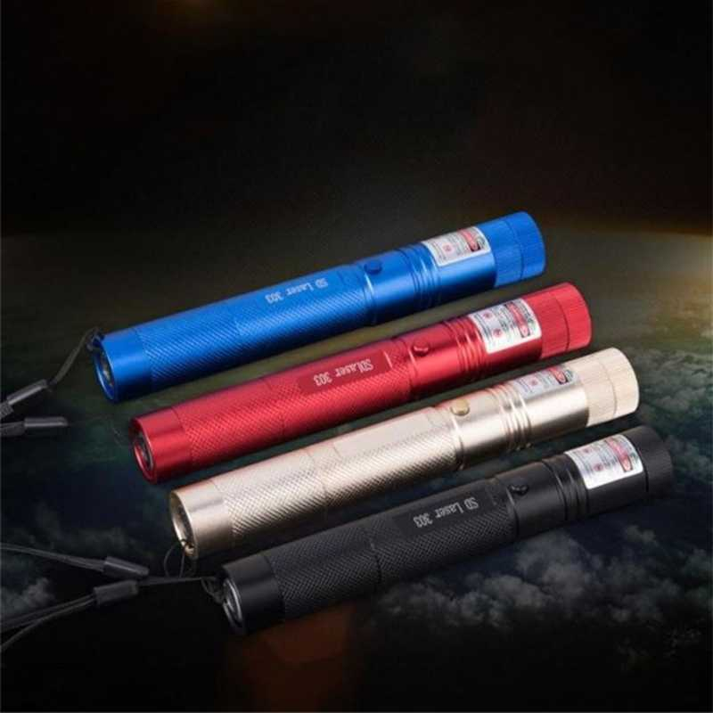 Deek-Robô 5 mw 532nm 303 Foco Ajustável Green Laser Pointer Pen Luz Lazer Feixe Visível