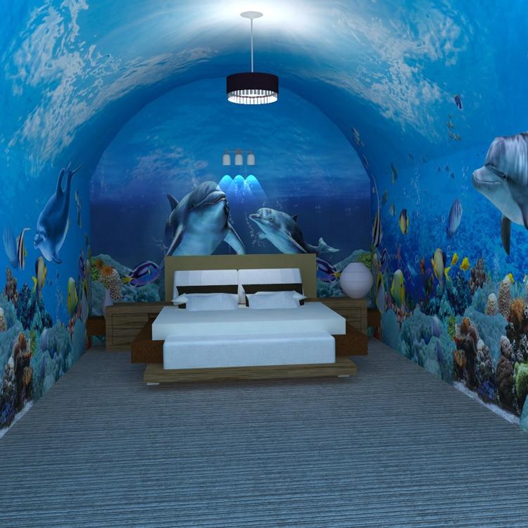 Custom Photo Wallpaper Custom Large Murals 3D Underwater World Theme Dining  Room Childrenu0027s Bedroom Wallpaper Mural In Wallpapers From Home Improvement  On ...