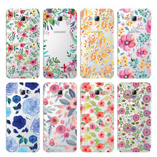 Summer Flowers Soft TPU Silicone Cover Case For Samsung Galaxy S5 S6 S7 S8 S9 Edge Plus A3 A5 A7 J3 J5 J7 2016 2017 #1009