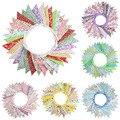 36 флагов, 10 м, цветные цветы, хлопковая ткань, баннеры, Вымпел, флаг, баннер, гирлянда, Свадебная вечеринка, для улицы, сделай сам, домашний дек...