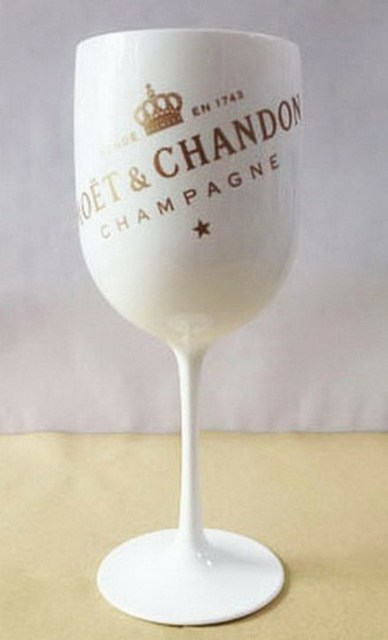 Plastic wine PARTY White champagne glass 1