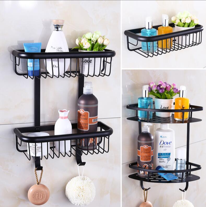 Wall Mounted Black Oil Brushed Bathroom Accessories Bathroom Shelves ...