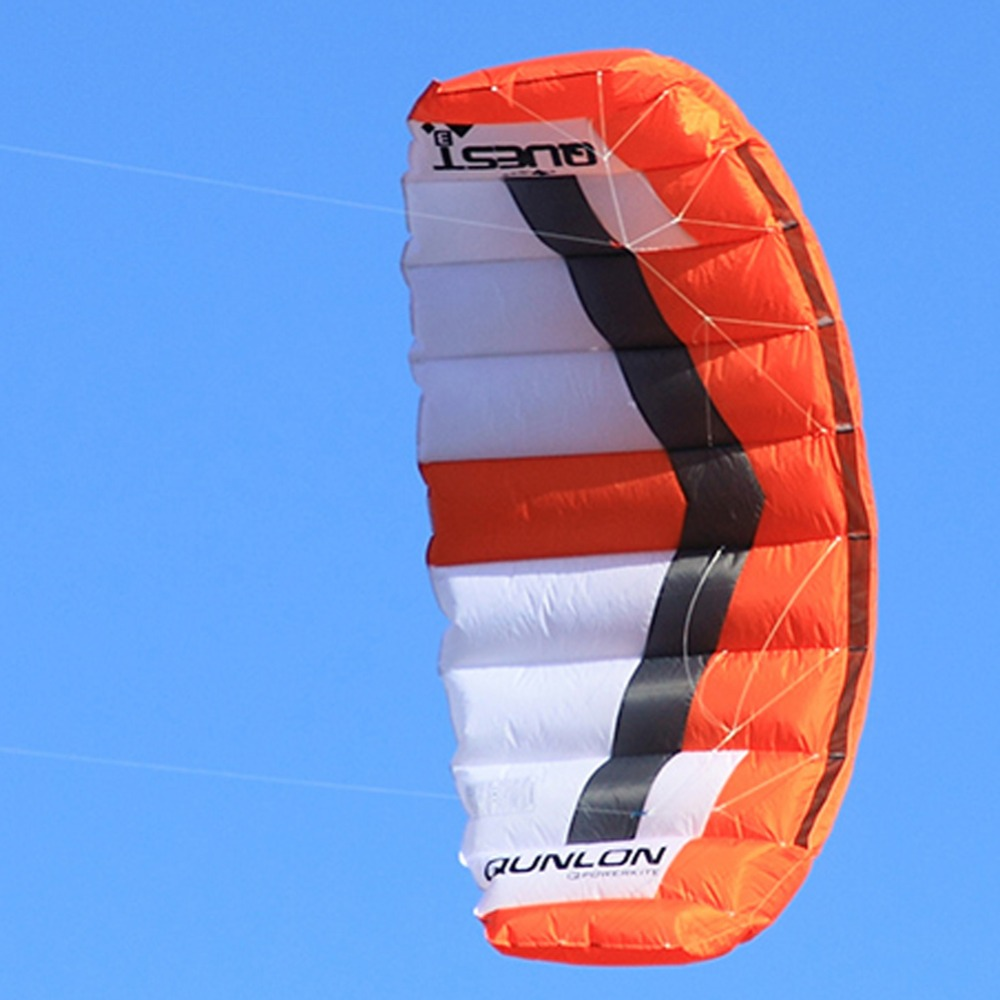 Tissu en Nylon 3 m² double ligne cerf-volant cascadeur couleur rouge cerf-volant surf Parafoil Traction cerf-volant pour débutant