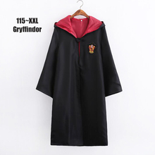 Multiple sizes Action figure for kids Cloak Gryffindor Magic School Cosplay Costumes Cloaks Robe 115~xxl Size
