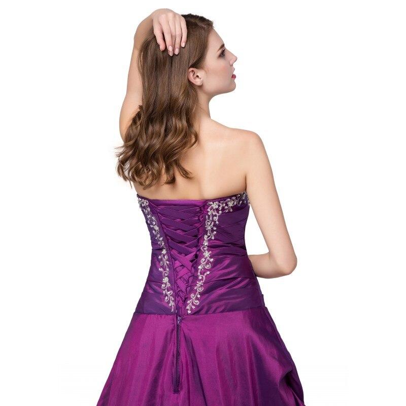 Prêt à expédier violet Quinceanera robe broderie cristaux chérie Vintage robes de bal taffetas debutante robe robe - 4