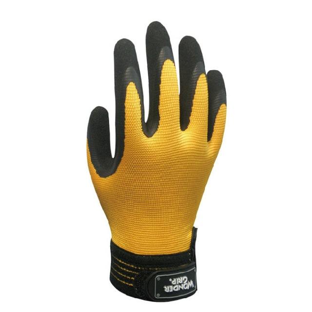 Нитрил, смоченным Мода Рабочие перчатки Скольжения resisitant Werable Анти-нефть Желтый Размер S-ml-xl Высочайшее Качество GM1138