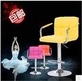 Европейский стиль стул бар высотой столы и стулья кассир стул спинкой стул лифт на стойке регистрации 0