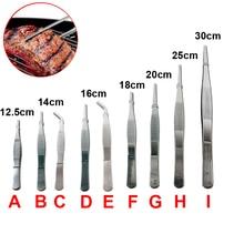1pcs multi-popuse Stainless Steel Tweezers High-precision household medical extension long Electronic repair Food tweezers