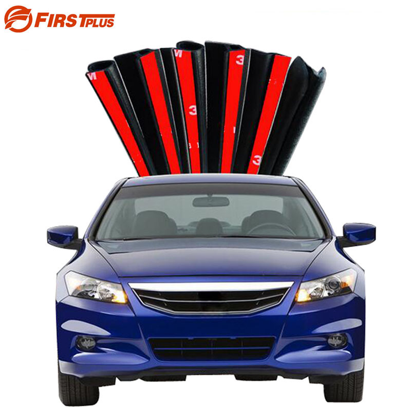 For Honda Civic Accord Fit CRV Rubber Seal Strip Front Rear Doors Bonnet Trunk Anti Sound Dust Sealing Strips B D Z Type cawanerl car sealing strip kit weatherstrip rubber seal edging trim anti noise for nissan almera march micra note pixo platina