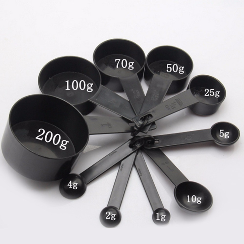 10pcs set plastic pp measuring cups spoon ideal home garden. Black Bedroom Furniture Sets. Home Design Ideas
