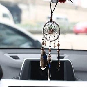 Мини-автомобиль Dream сетчатые маленькие ракушки из натуральных перьев, ручной работы, шикарные висячие украшения, Настенный декор для спальн...