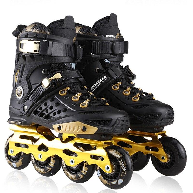 Patins à roulettes adultes novices hommes femmes chaussures plates fantaisie patins à roulettes débutants en ligne en plein air bottes Sneaker