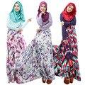 Новый Дизайн Женщин Абая Джилбаба Исламская Мусульманин Коктейль Женский С Длинным Рукавом Винтаж Макси Платье Исламская Одежда для Женщин WL3010-1