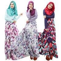 New Design Women Abaya Jilbab Islamic Muslim Cocktail Female Long Sleeve Vintage Maxi Dress Islamic Clothing