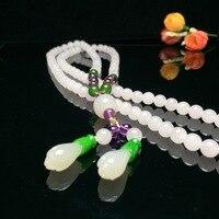 2018 New Kolye Moana Choker 7 Mm Hetian Collocation Magnolia Flower Necklace Pendant Sweater Chain Can Do Many Laps Bracelet