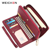 WEICHEN Wristband Clutch   Wallet   Women Many Departments Female   Wallet   Brand Designer Ladies Handbag Coin Purse Cell Phone Pocket
