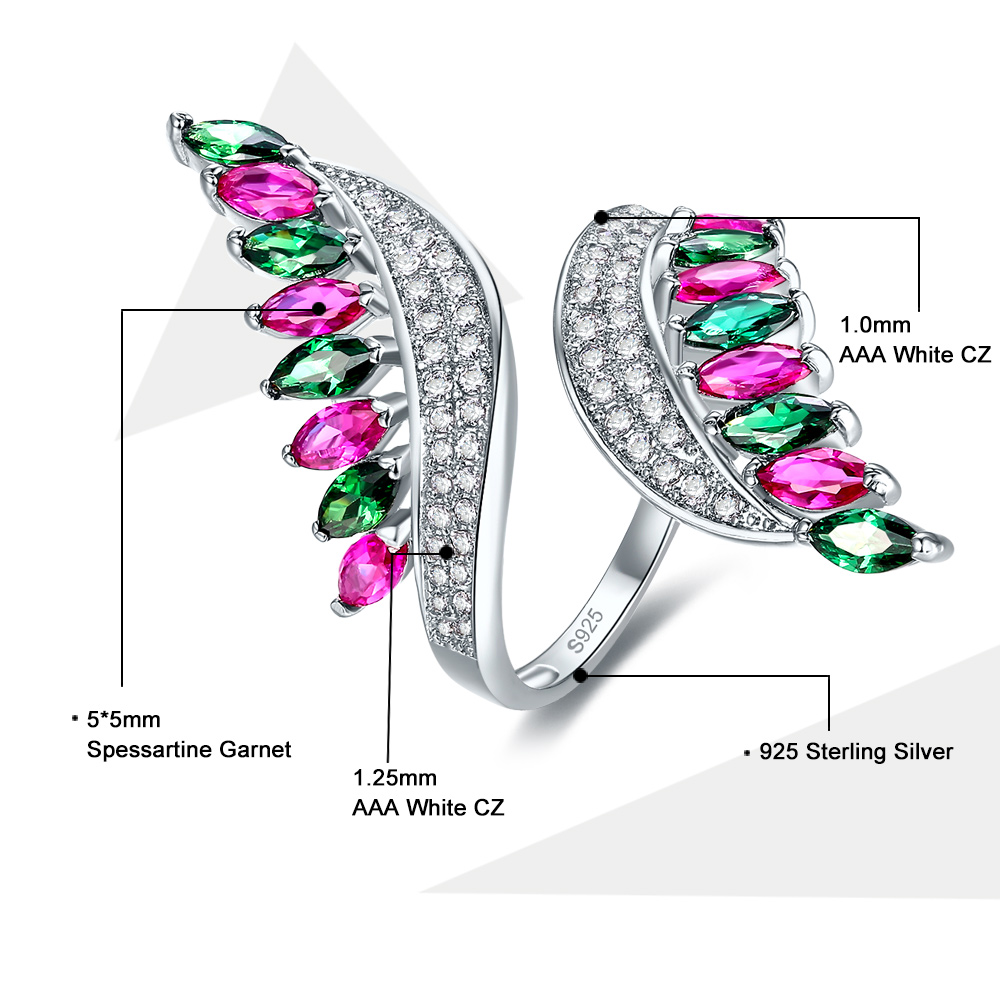 Multi Color Cz Fashion Cluster Ring On Silver 925 Various Styles Fashion Jewelry