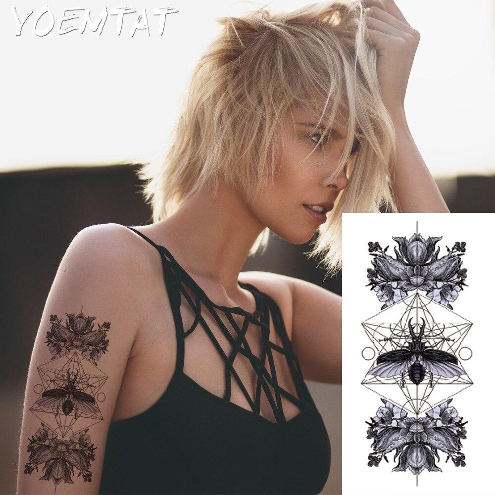 1pc ελαφρύ καυτό μαύρο λευκό μεγάλο Henna - Τατουάζ και τέχνη του σώματος - Φωτογραφία 4