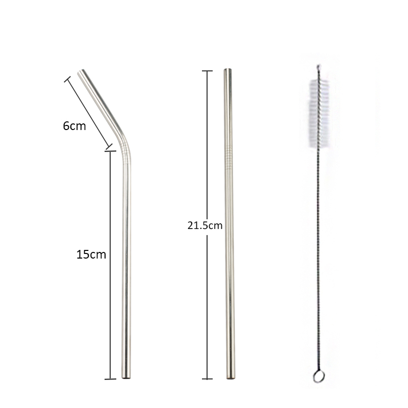 Colorful 304 Stainless Steel Reusable Straws Suitable For Family Parties 1