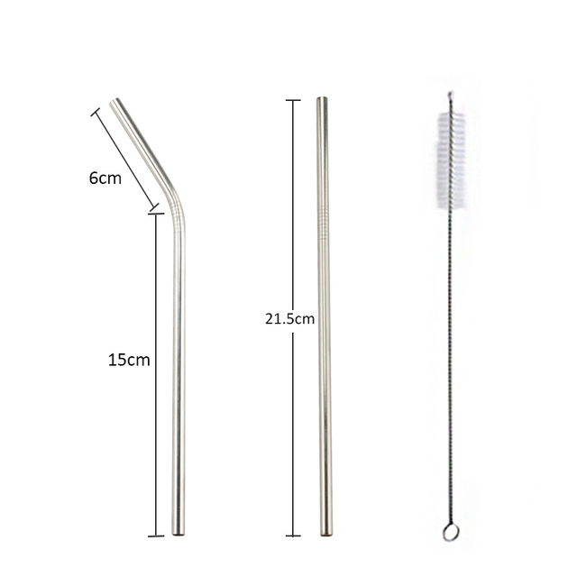 Colorful Stainless Steel Straws Reusable Straight Straws