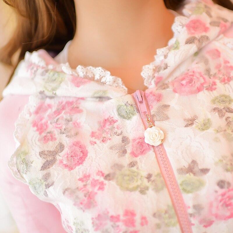 Bulle Jupe Rain Blanc C16cd5847 Conception Fleur Japonais Grenadine Lolita Princesse Candy Arc skirt Impression Sweet Décoration Jacket qTRx8