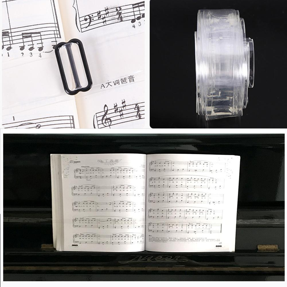 Piano Music Book Pressure Band Sheet Music Fix Strap Holder For Practice Trainer Piano Keyboard Instrument Accessories