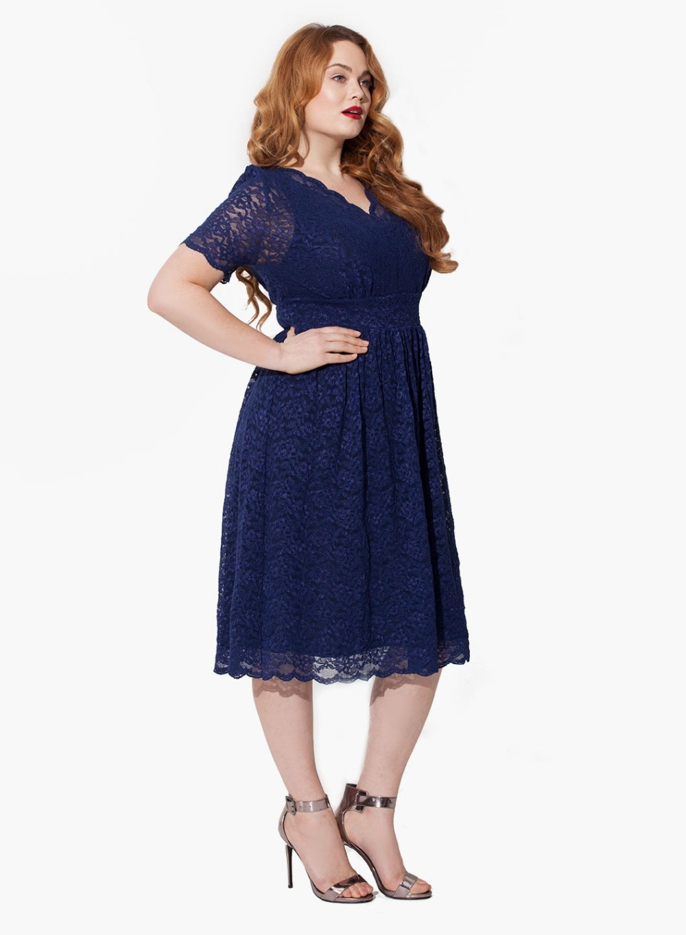 ED1509 Short sleeves lace fat women evening dress online shopping-in ...