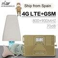 Полный смарт 4G LTE 800 МГц B20 GSM 900 МГц Мобильный телефон усилитель сигнала GSM LTE 4G сотовый телефон ретранслятор сигнала