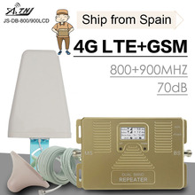 Full Smart 4G LTE 800 mhz B20 GSM 900 Mobile Phone Signal Booster Cell Cellular Repeater Amplifier